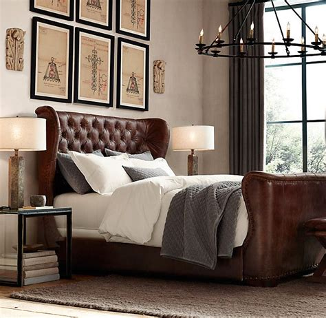 leather bed ideas  pinterest black leather