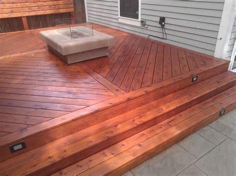 cedar decking  clear coat actual customer deck yelp