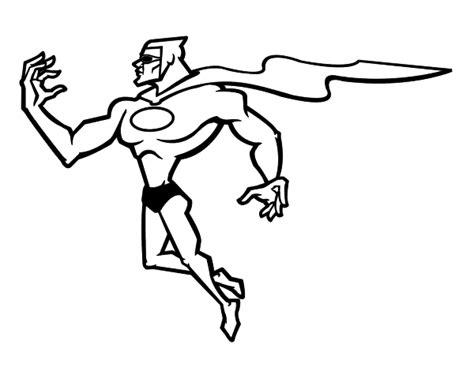 Powerful Superhero Coloring Page