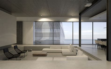 Living Room Lounge Salon by 40 Stylish Living Rooms That Use Concrete To Stand Out