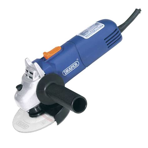 draper 68419 600w 115mm angle grinder kit with 5
