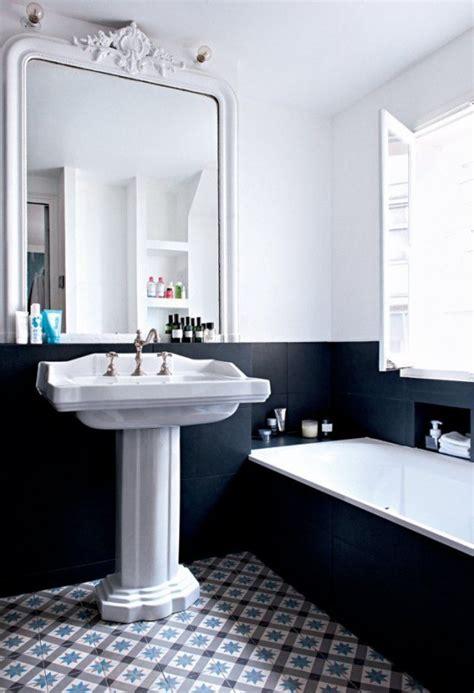 robinet cuisine cuivre 15 inspirations pour une salle de bain en noir et blanc