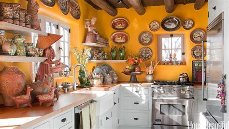 yellow kitchen  santa fe style southwest kitchen decor