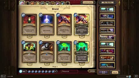 hearthstone druid deck building review youtube