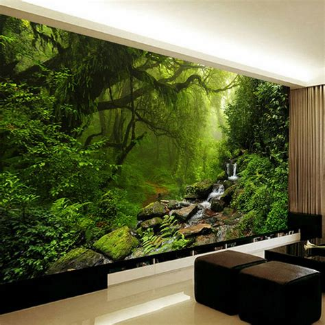 3d Wall Murals Wallpaper by Photo Wallpaper 3d Stereo Forest Nature Landscape