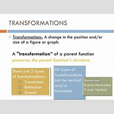 Introduction Transformations
