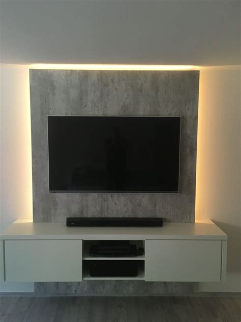 Tv An Der Wand by 25 Best Ideas About Tv Wall Design On Tv On
