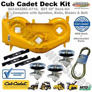 Cub Cadet 50 U0026quot  Deck Shell Kit  Yellow  For Lawn Tractors