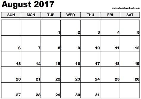 calendar template august 2017 august 2017 calendar weekly calendar template