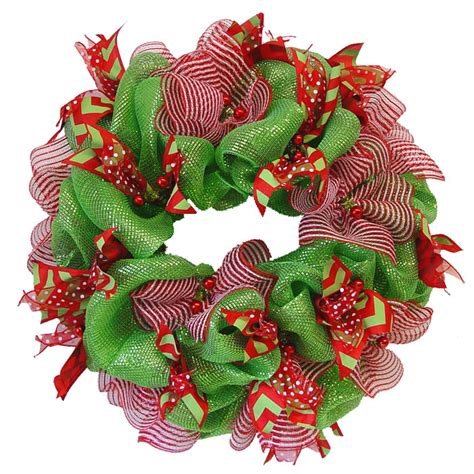 mesh ribbon christmas tree tutorial deco poly mesh wreath tutorial using raz cookie decorations trendy tree decor