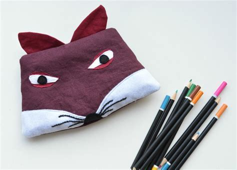 Fox Pencil Case Pattern   AllFreeSewing.com