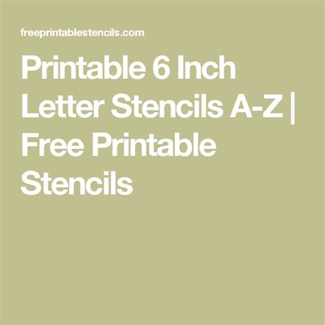 printable   letter stencils    printable