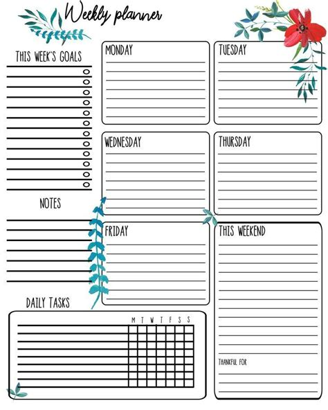 Contact Support   Weekly planner print, Planner printables ...