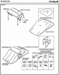 Bow Cover  Factory Oem  For Sea Ray U00ae 205 Sport No Tower
