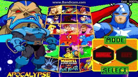 I Am The Apocalypse Marvel Super Heroes Vs Street