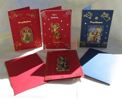 weihnachtskarten basteln 3d weihnachtskarten set bastelvorlage motiv weihnachten