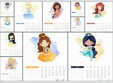 Disney Princess 2018 Free Printable Calendar Oh My