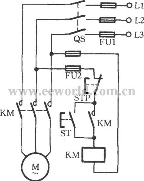contactor self locking operation circuit basic circuit