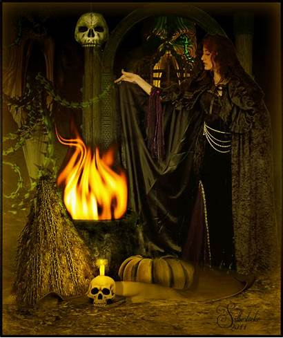 Witch Animated Witches Halloween Witchcraft Lovethispic Fantasy