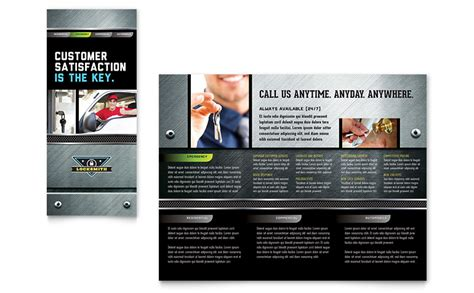 locksmith brochure template word publisher