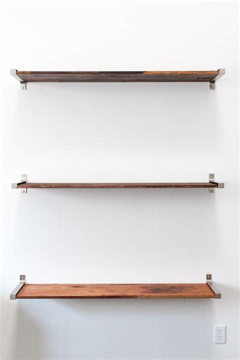 wood shelf brackets floating wood shelf diy ikea hack distressed wooden shelves to elevate your home