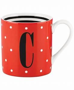 kate spade new york monogram mug collection macy39s With kate spade letter mug