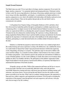 personal statement random school college