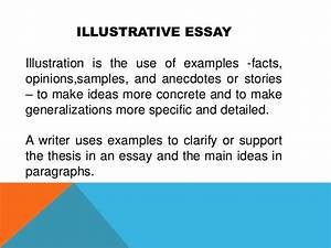 Example Of An Illustrative Essay Creative Writing Techniques Poetry  How To Write An Illustration Essay  Solidessay