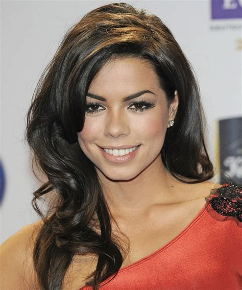 Fernanda Brandao Long Wavy Formal Hairstyle   Dark