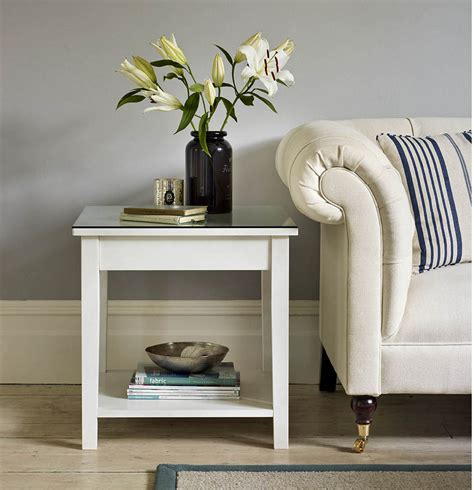 Sofa Side Tables The Hidden Storage Side Table Hammacher