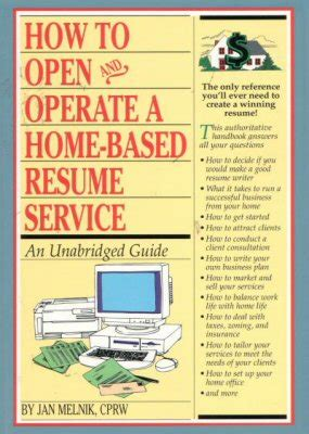 Resume Writing Business by Start Your Own Resume Writing Business Bizbooks Org