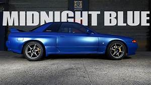 midnight, blue, -, nissan, skyline, r32, gt-r