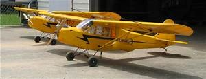 Pennuavs  Two Piper J3 Cub Model Airplanes
