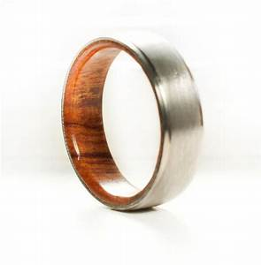 Men39s wedding band wood lined ring staghead designs for Wood mens wedding ring
