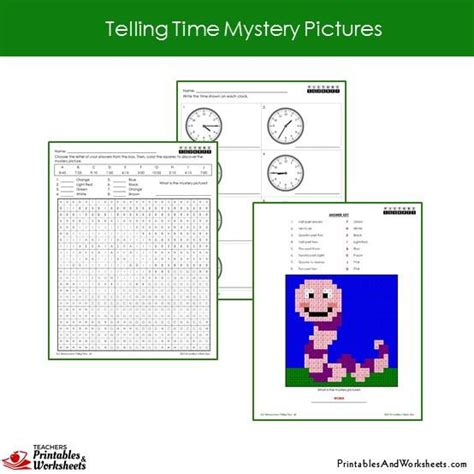 grade telling time mystery pictures coloring worksheets printables worksheets