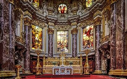 Cathedral Berlin Stained Glass Altar Germany Religion