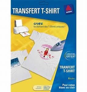 Papier Transfert Tee Shirt : avery transferts t shirts papier pour imprimante achat ~ Melissatoandfro.com Idées de Décoration