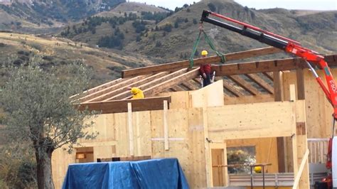 tettoie in legno palermo montaggio x lam prefabbricate tetti e tettoie in