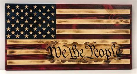 rustic american flag  constitution flag etsy