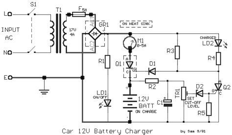 Car Battery Charger Circuit Scheme