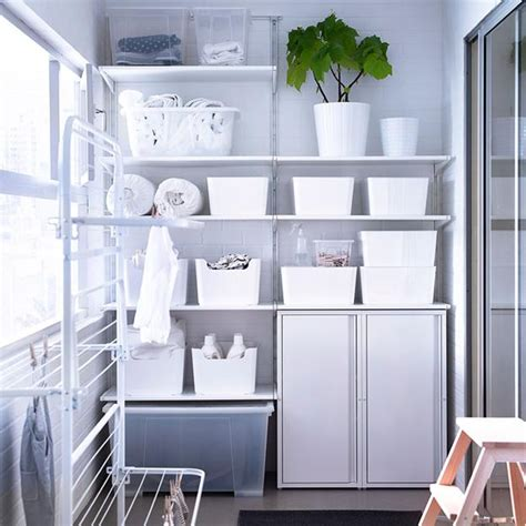 space saving racks adding eco accents  laundry room design
