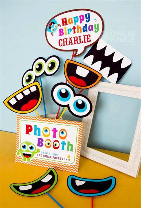 colorful monster birthday party planning ideas boy girl