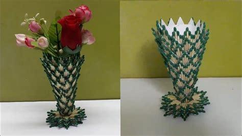 flower vase  matchstick simple craft ideas
