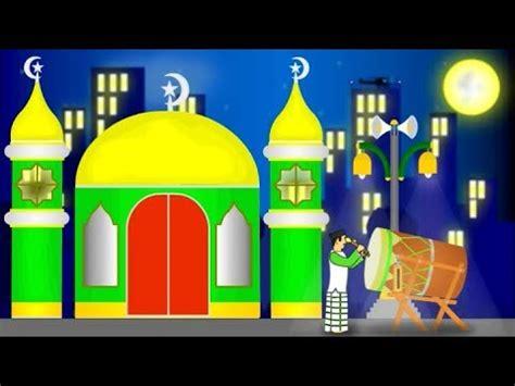 gambar kartun perayaan hari raya idul fitri