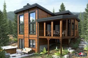 Chalet De Jardin Contemporain : designer zen contemporary chalet waterfront homes ~ Premium-room.com Idées de Décoration