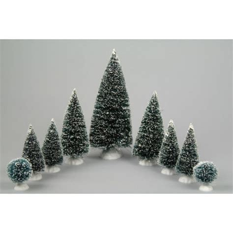 lumineo 9 assorted miniature christmas trees