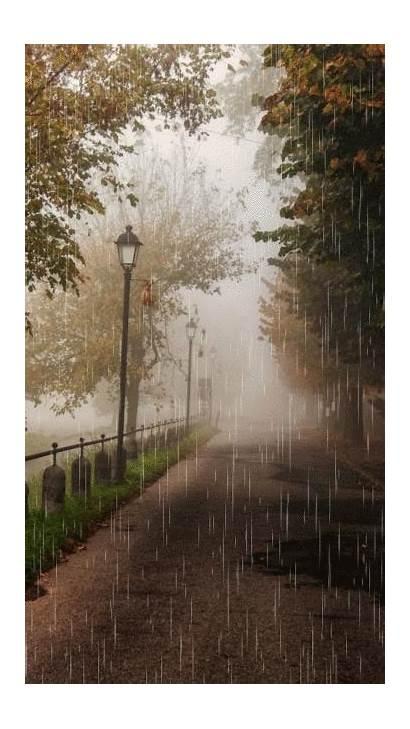 Gifs Rain Walking Chuva Regen Rainy Rosa