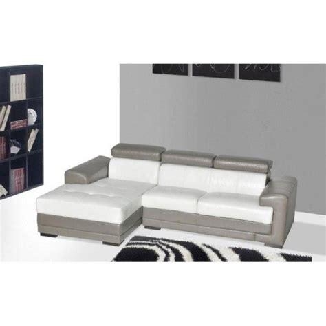 canape cuir blanc et gris photos canapé blanc et gris cuir
