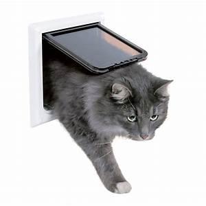Türschutzgitter Mit Katzenklappe : trixie 4 wege katzenklappe xl mit tunnel ~ Whattoseeinmadrid.com Haus und Dekorationen