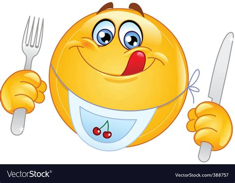 Hungry Emoticon Royalty Free Vector Image
